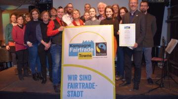 Urkundenübergabe Fair Trade Stadt Greifswald